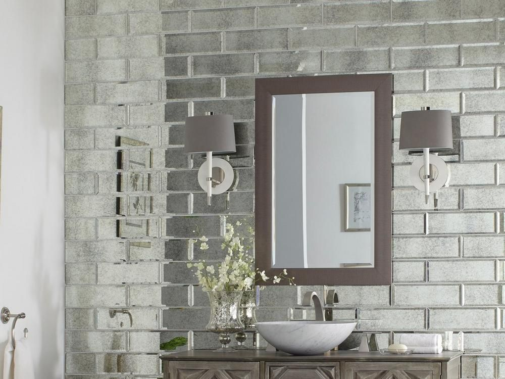Antique Mirror Beveled Glass Tile Floor Decor Antique Mirror Glass Mirror Tiles Bathroom Antique Mirror Tiles