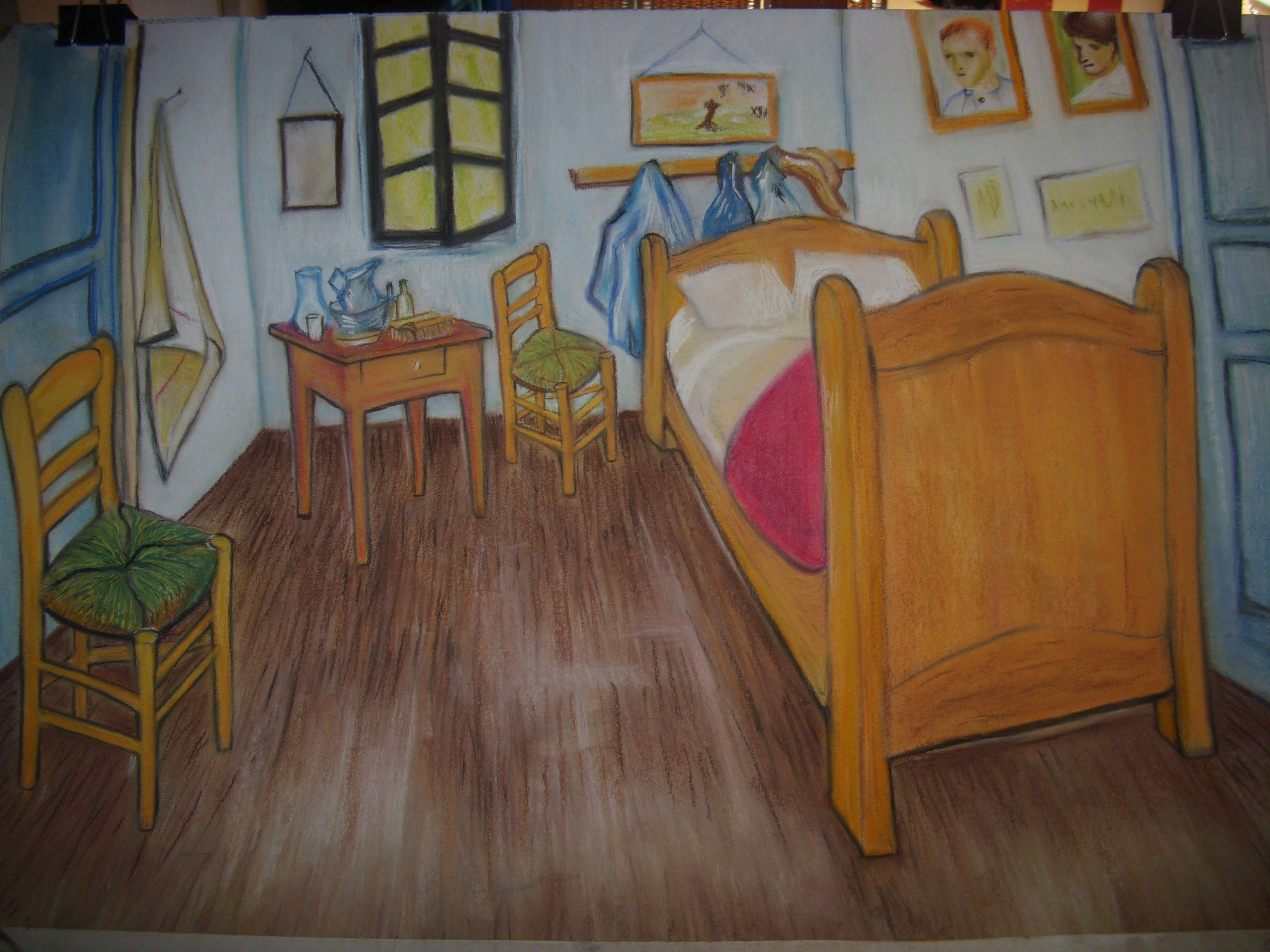 Mi cuadro - pastel (la Habitación de Van Gogh)