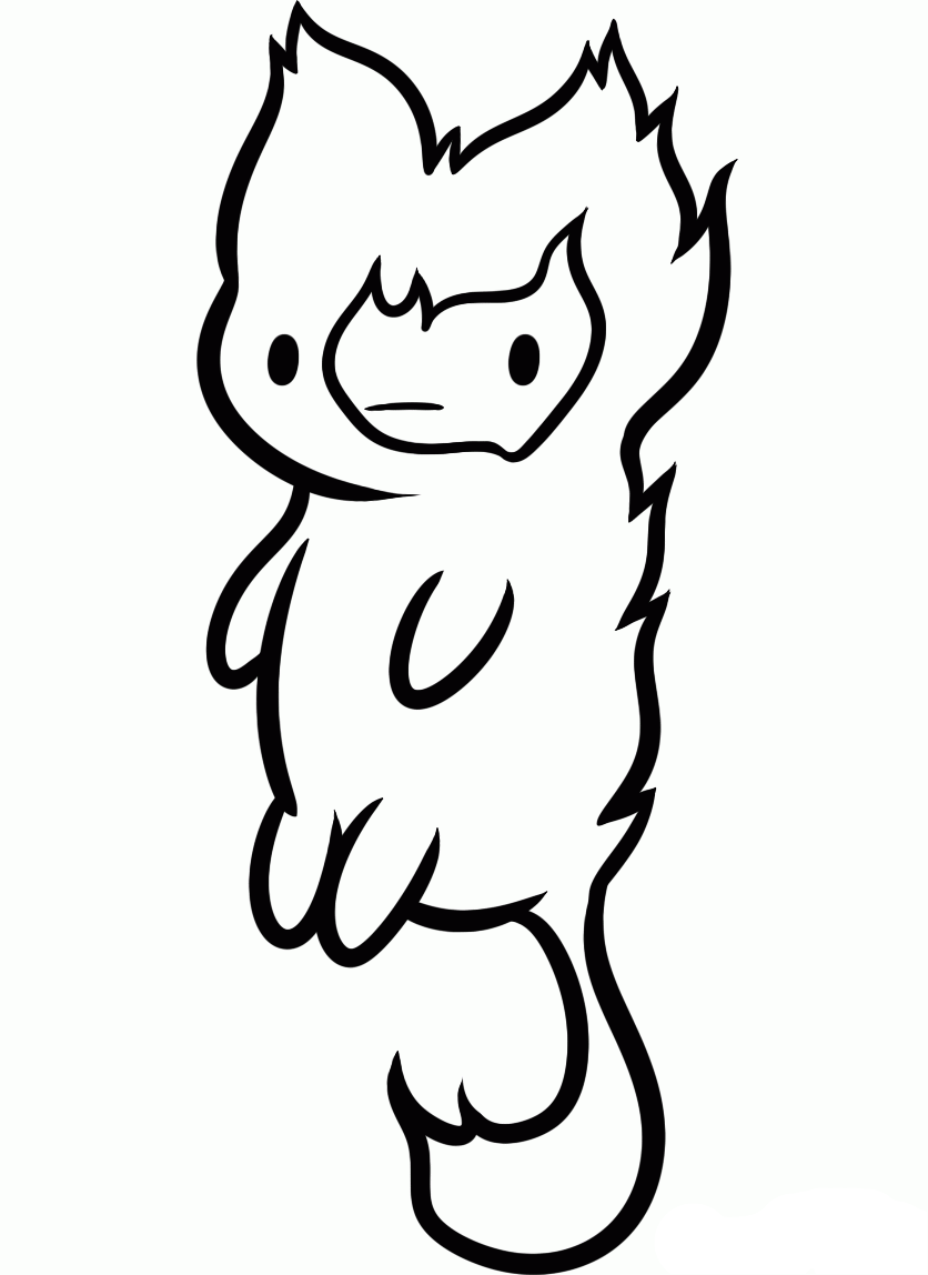 Adventure Time Cat Standing With Its Tail   Adventure Time Coloring ...