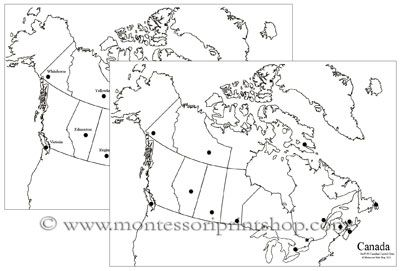Map Of Canada Capital Cities.Canadian Capital Cities Map Study Of Canada Capital City Map