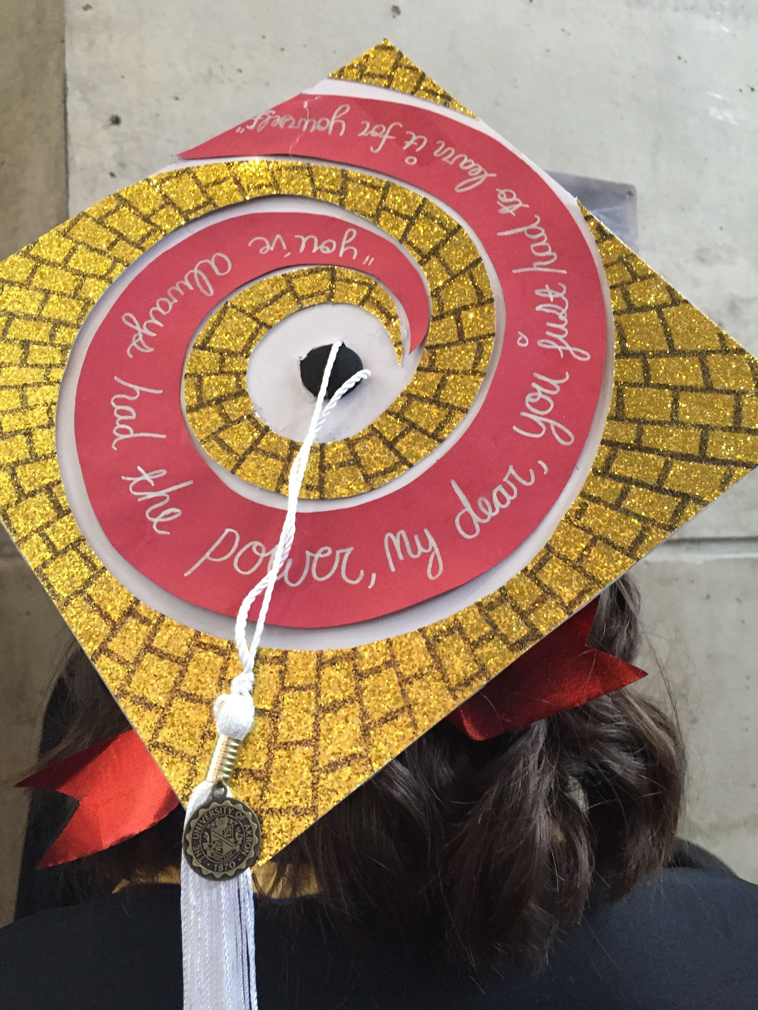 Wizard of Oz graduation cap You ve always had the power my dear