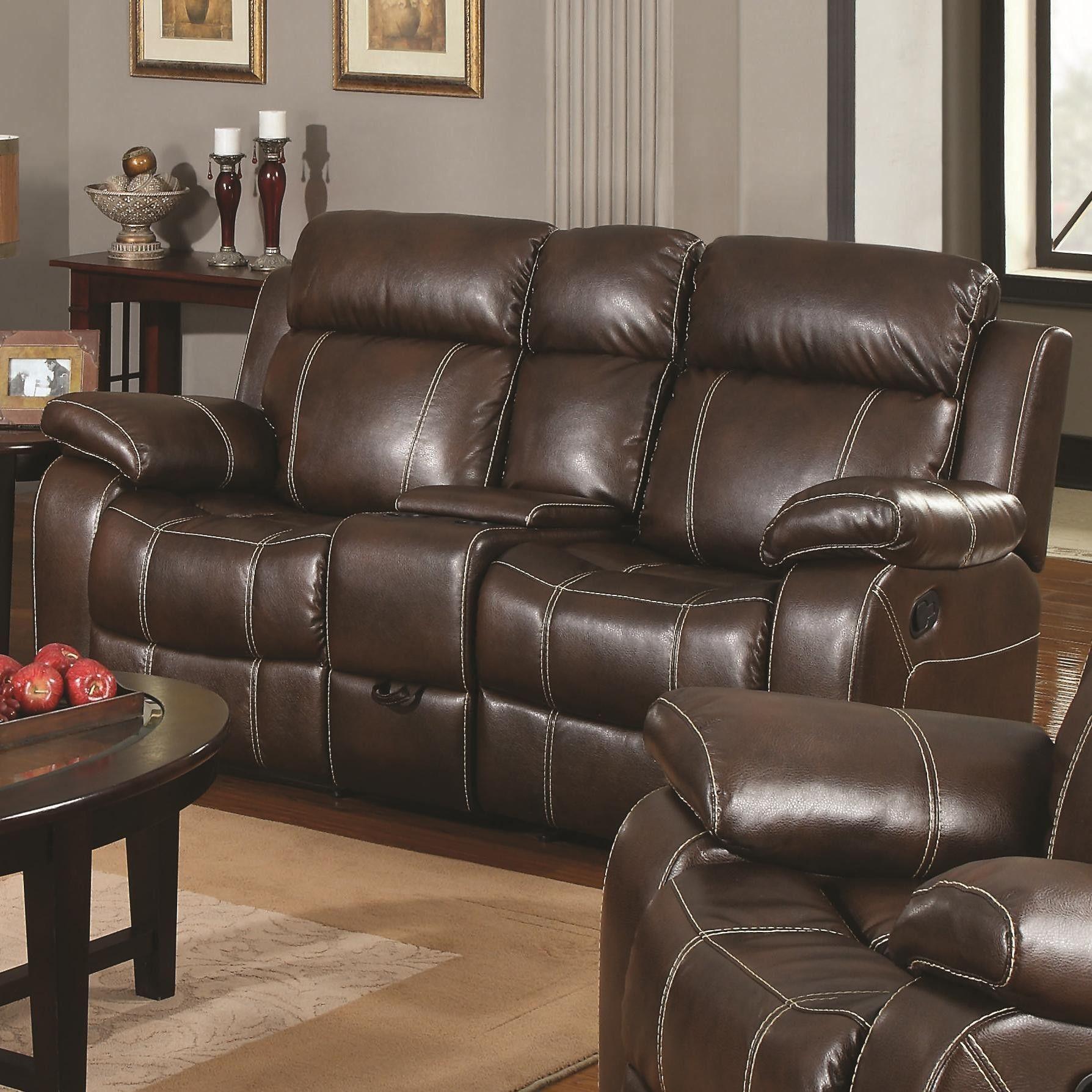 Reclining Sofa Loveseat Set Ruang Keluarga Set Sofa Mebel