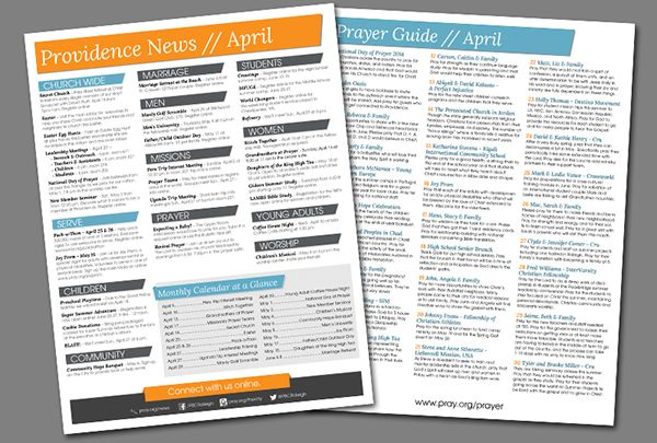 Weekly Church Bulletin Layout On Behance  Church Bulletin