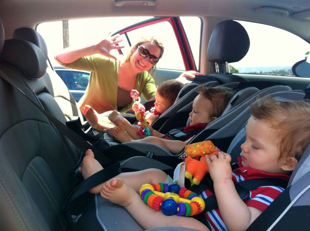 3 Car Seats Across One Row  Spontaneous Triplets Blog Safety 1st