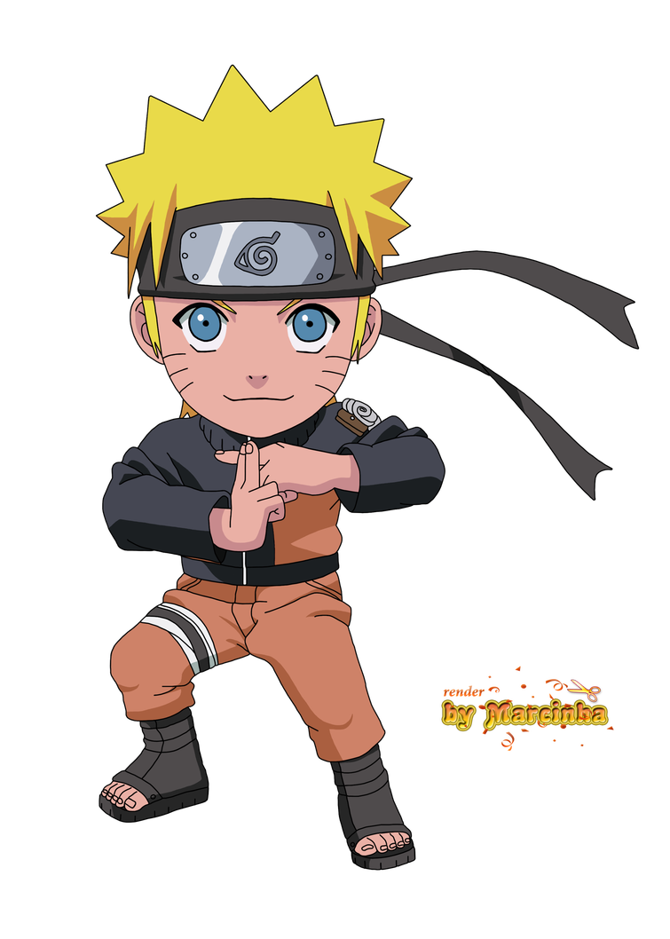 Render Chibi Naruto by Marcinha20 Anime naruto, Chibi