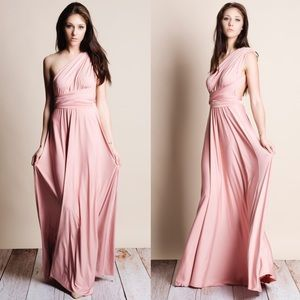 I just discovered this while shopping on Poshmark: xx Multi Wear Pink Maxi Dress. Check it out! Price: $75 Size: Various