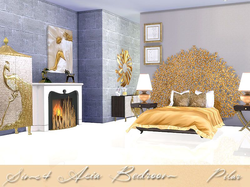 oriental luxury Found in TSR Category \'Sims 4 Adult Bedroom Sets ...