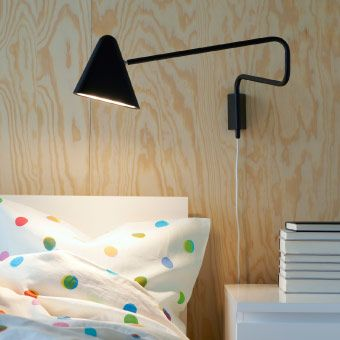 Led Wall Lamp With A Long Arm That You Can Move Out From The Wall Ikea Wandlamp Slaapkamer Verlichting