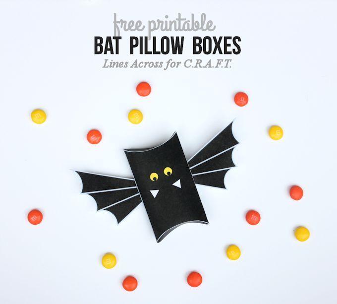Halloween crafts {Free printable bat boxes Bat box, Craft free and - free halloween decorations printable