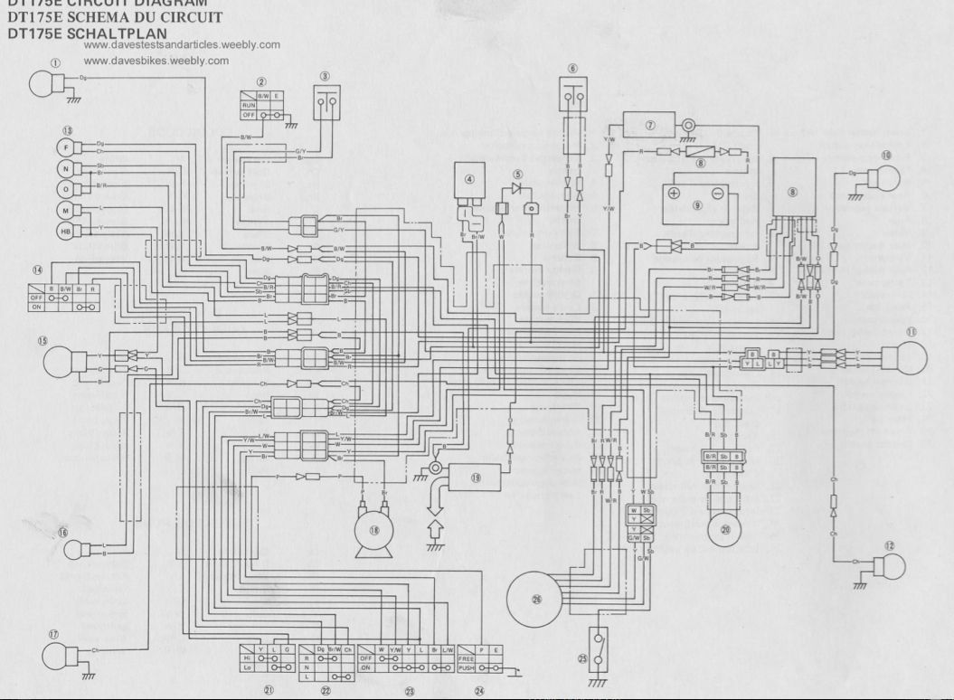 1979 Yamaha 175 It Wiring Basic Electrical Diagram Guide 05102406aa Harness Dt Trusted U2022 Rh Macpcs Co 1983
