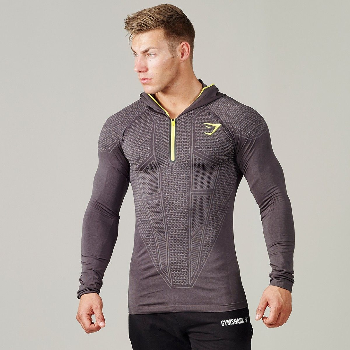 best sale where can i buy structural disablities Gymshark Onyx Seamless Hooded Top - Charcoal - Hoodies ...