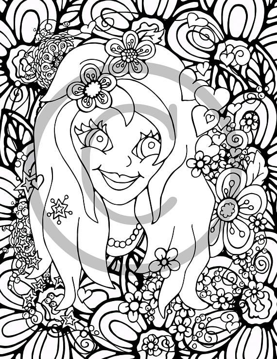 Awesome Flower Girl Coloring Book Images - Coloring 2018 ...