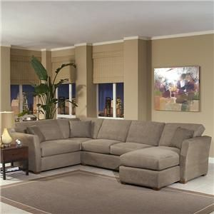 Klaussner Options Flared Track Arm Sofa Sectional with Chaise
