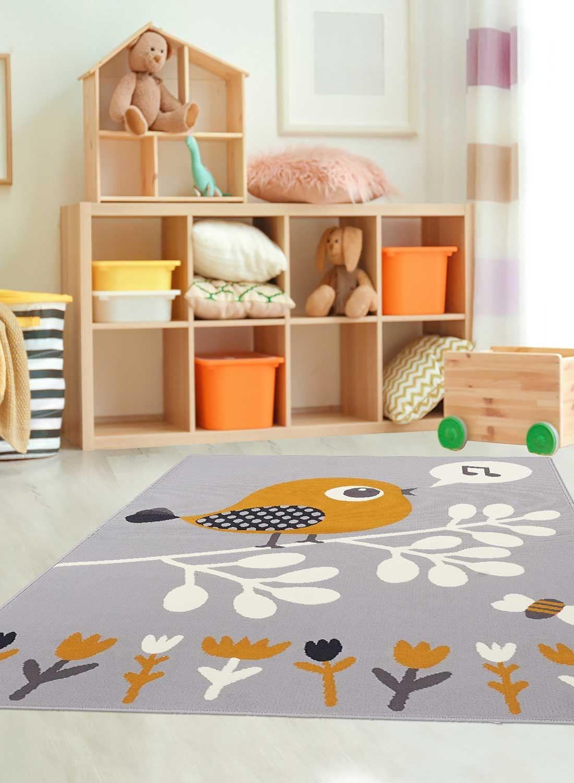 af piaf tapis enfant tapis gris et
