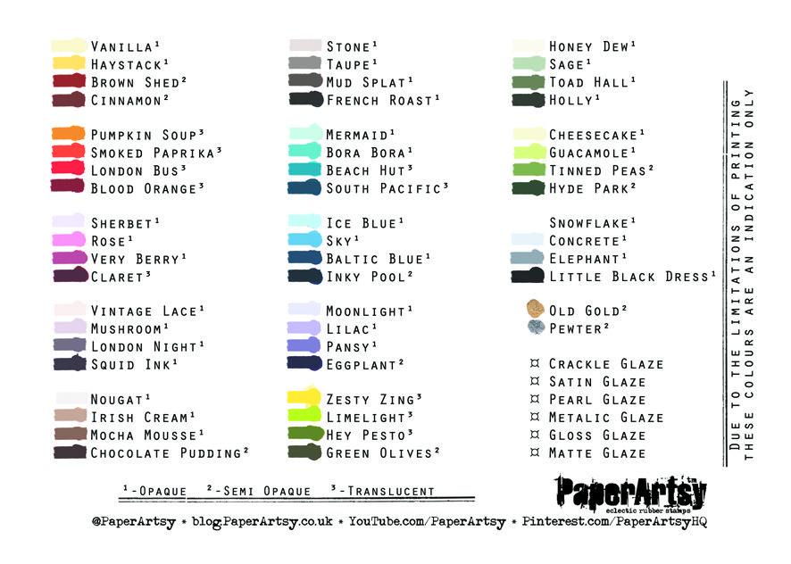 Paperartsy Fresco Paints Paint Charts Craft Tutorials London Bus
