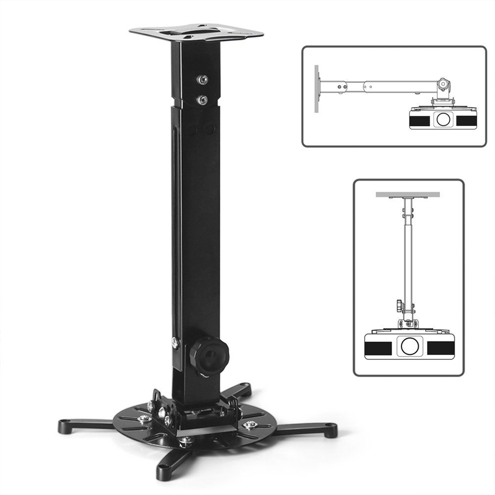 Tnp Universal Projector Mount Drop Ceiling Wall Lcd Dlp Video Projection Mount Bracket Holder Plate With Te Projector Mount Extension Pole Projector Mounts