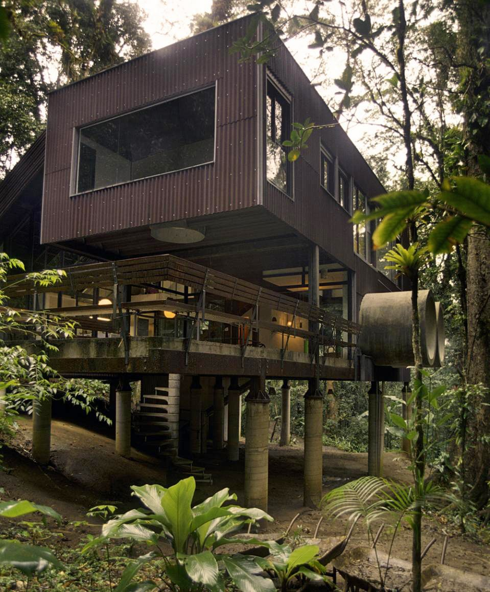 Tropical beach house in the Brazilian jungle Tropical beach houses