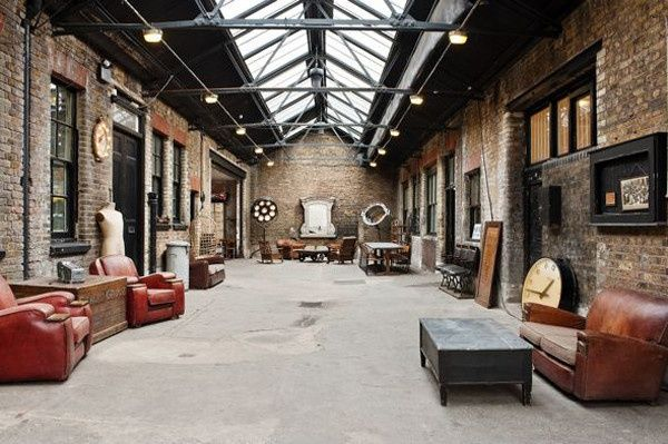 Industrial style interior designs are common for lofts and old