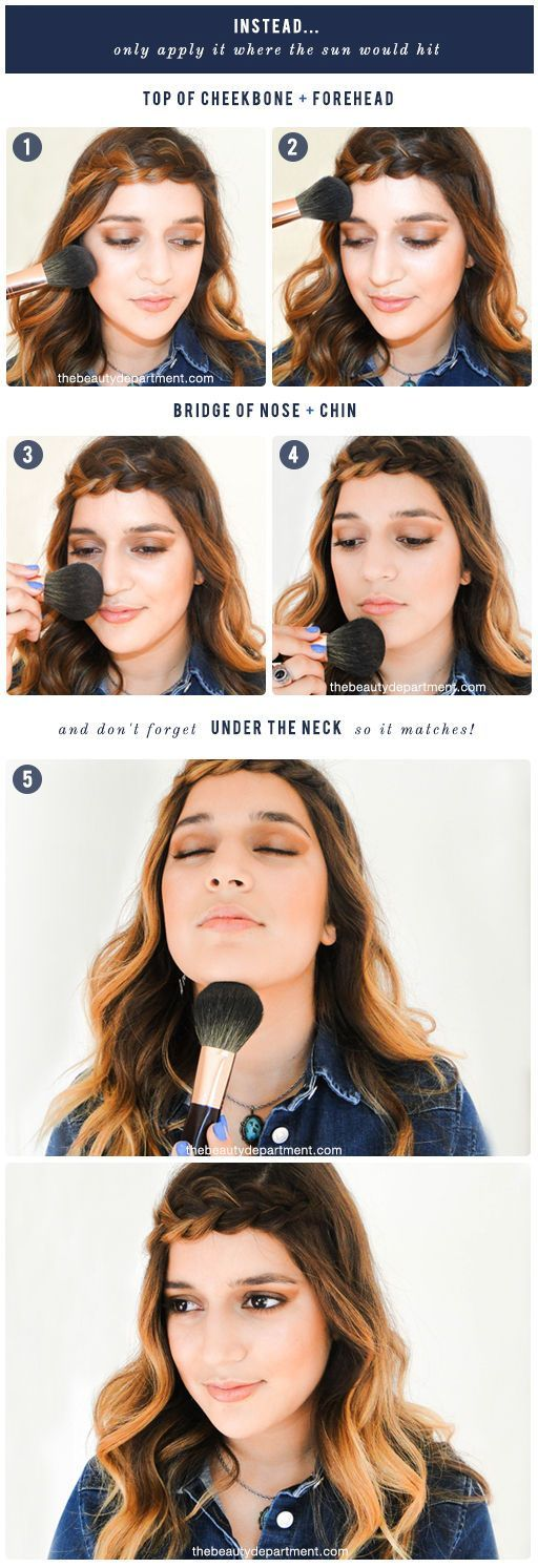 HOW TO APPLY BRONZER CORRECTLY How to apply bronzer