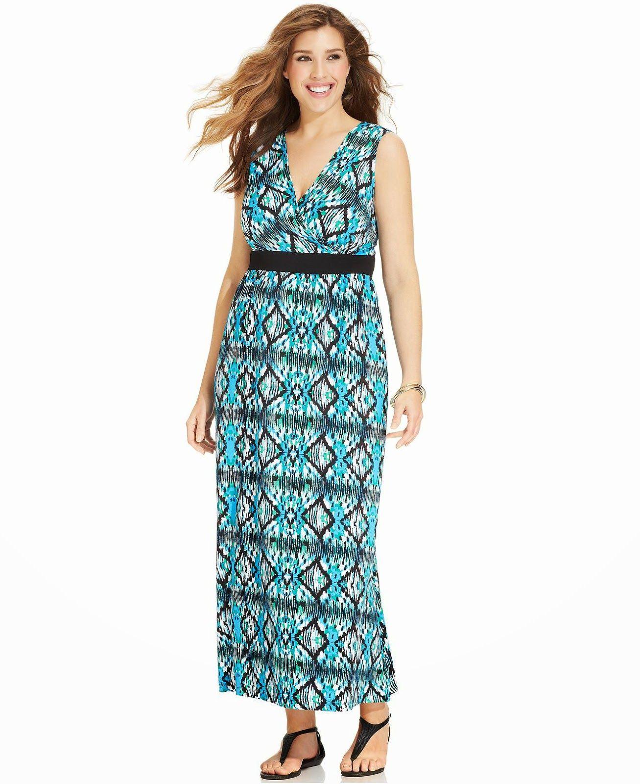 Llamativos vestidos largos para mujeres gorditas | Moda en vestidos ...