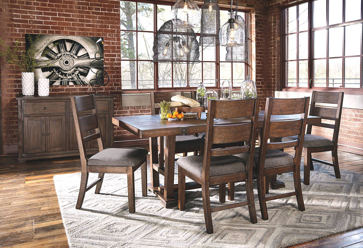 Ashleyfurniture D670 25 01 286 29 60 Dining Room Table Dining Chairs Contemporary Dining Furniture