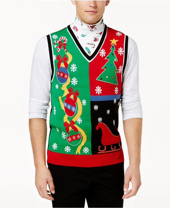American Rag Mens Ugly Holiday Sweater Vest Created For Macys