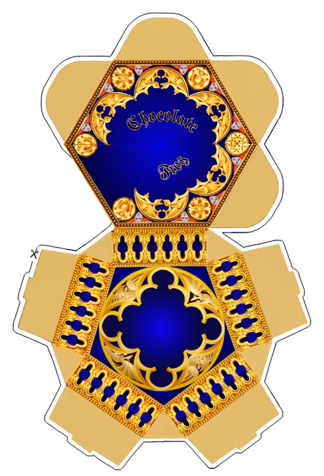 Chocolate frog box template. This site also has chocolate card
