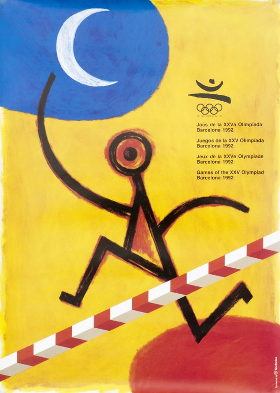 Barcelona 92 Peret 1992 19 6 X 27 4 50 X 70 Cm Photo Offset Paper Id Spl03070 135 Olympics Graphics Olympic Games Sport Poster