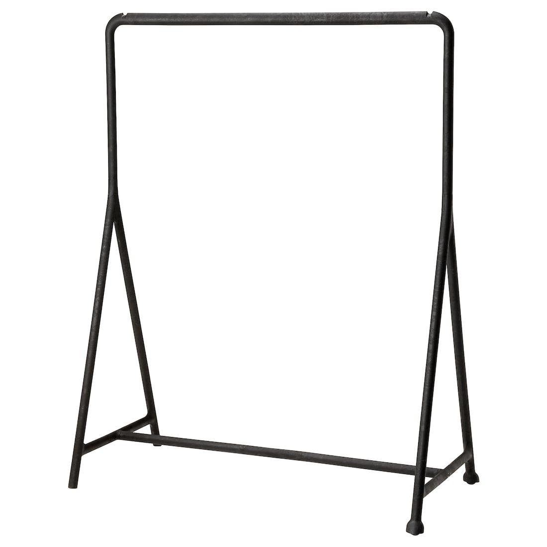 Armadio Metallico Esterno Ikea turbo stand appendiabiti, interno/esterno - nero 117x59 cm