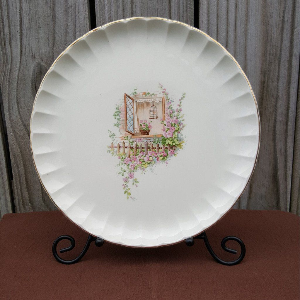 Vintage WS George Dinner Plates Set of Bolero Dinnerware Line Breakfast Nook Pattern c. & Vintage Dinner Plates Set of 3 Bolero Dinnerware Line Breakfast ...
