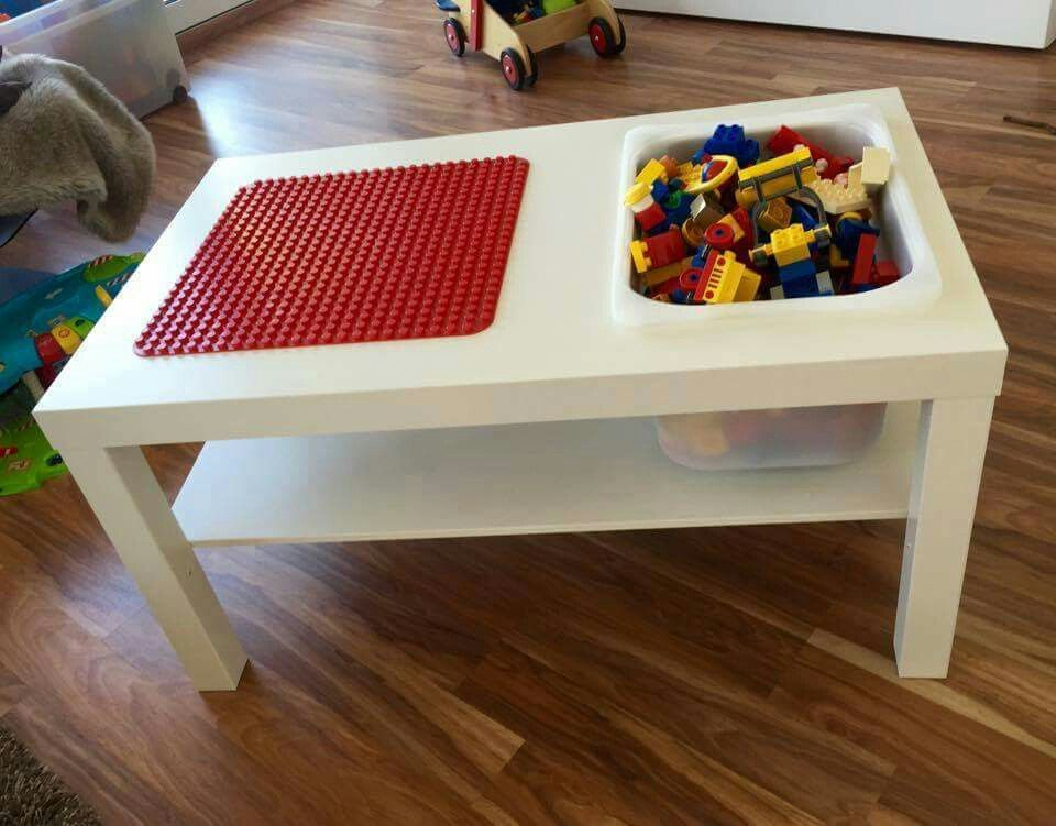 ikea tisch box lego super praktischer spieltisch kreative ideen f r kinder pinterest. Black Bedroom Furniture Sets. Home Design Ideas