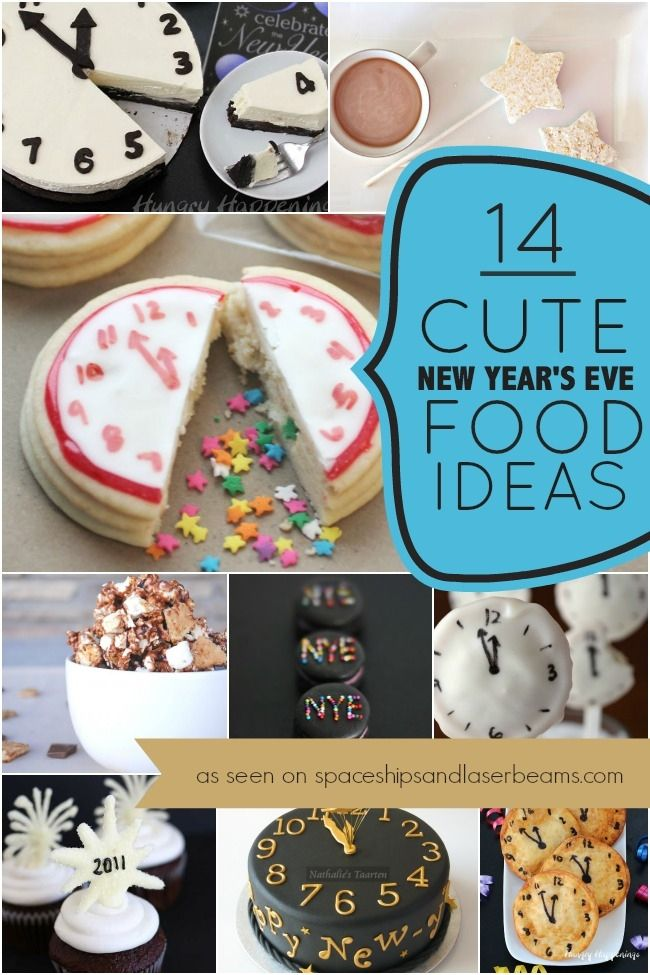14 Cute New Year's Eve Party Food Ideas New year's eve