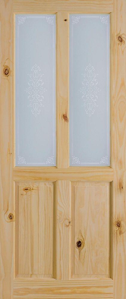 Leeds Doors Richmond C&ion Glass 78x28 Knotty Pine - internal doors - knotty pine - Richmond & Leeds Doors Richmond Campion Glass 78x28 Knotty Pine - internal ...