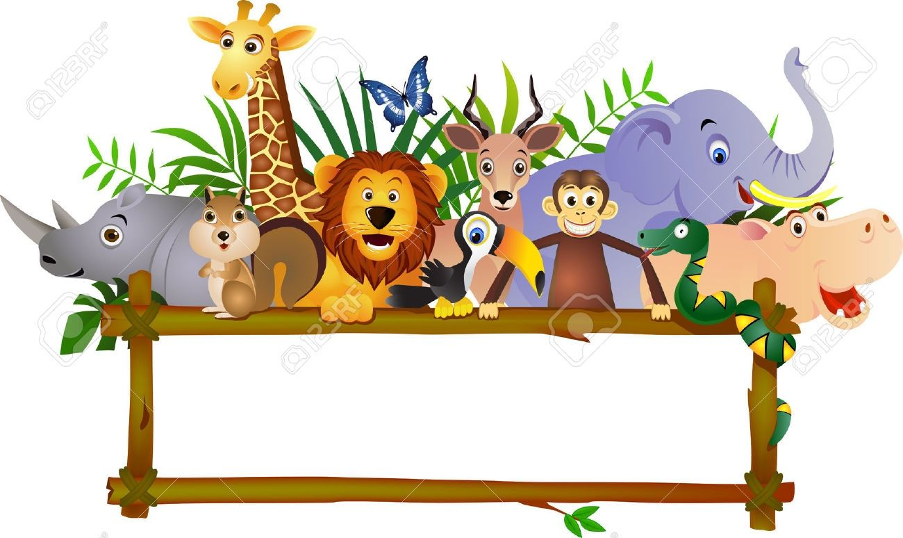 Clip Art: Inspiration Jungle Border Clip Art: Jungle