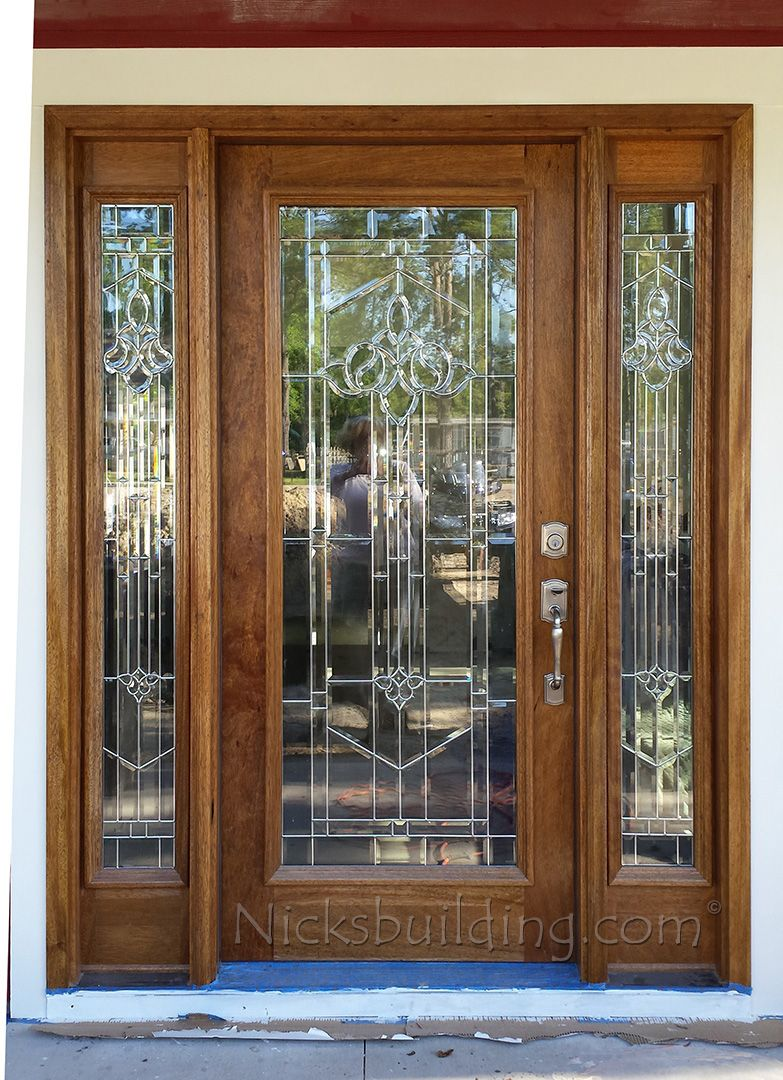 Full Lite Mahogany Door With Glass Exterior Doors Exterior