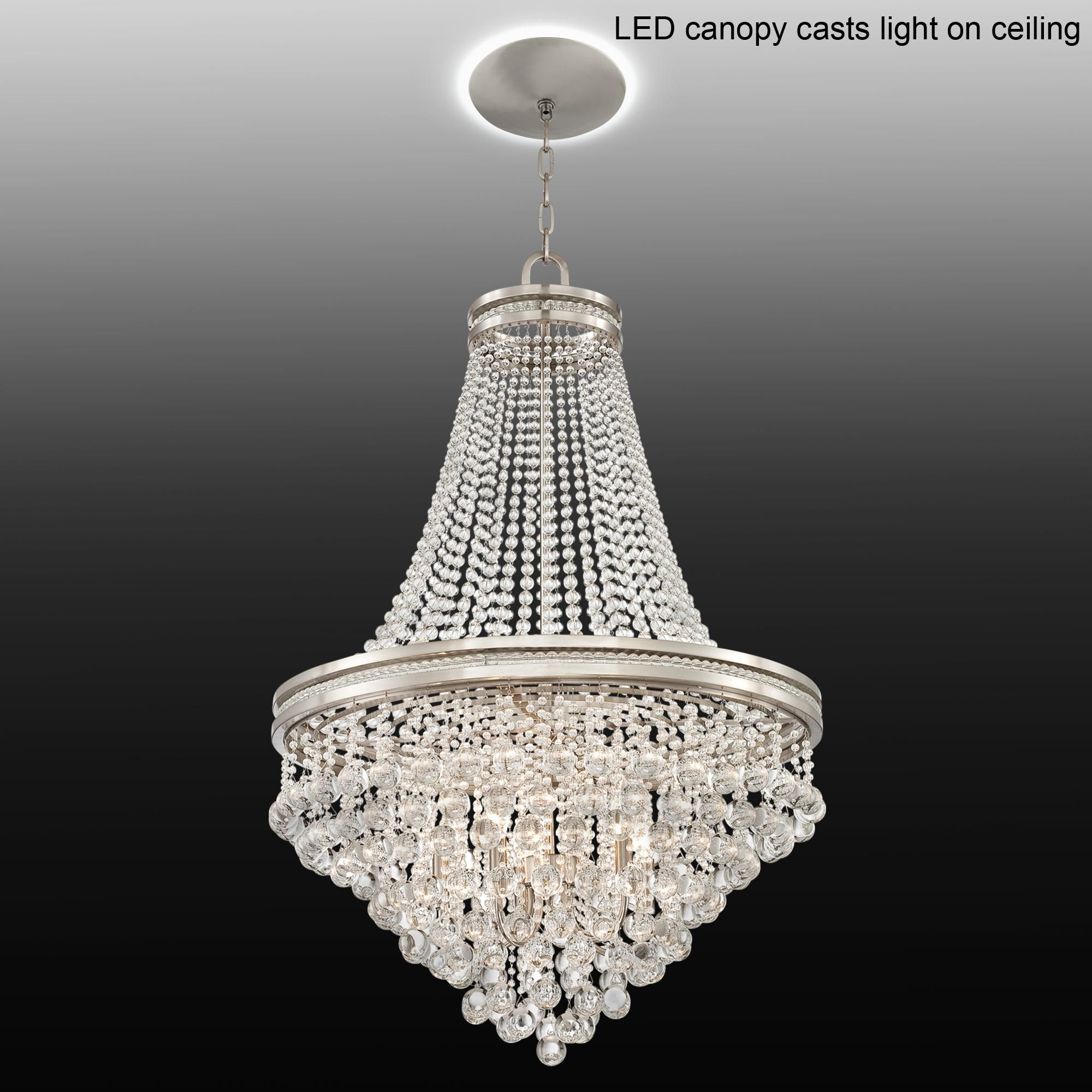 chandelier led crystal cherrie canopy chandeliers with large w pin