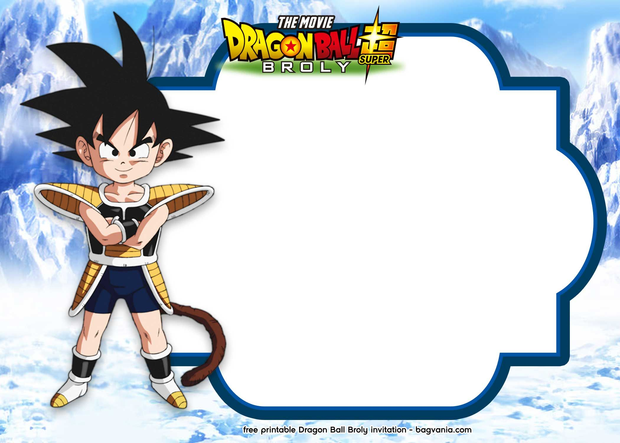 15 FREE Printable Dragon Ball Super Broly Invitation