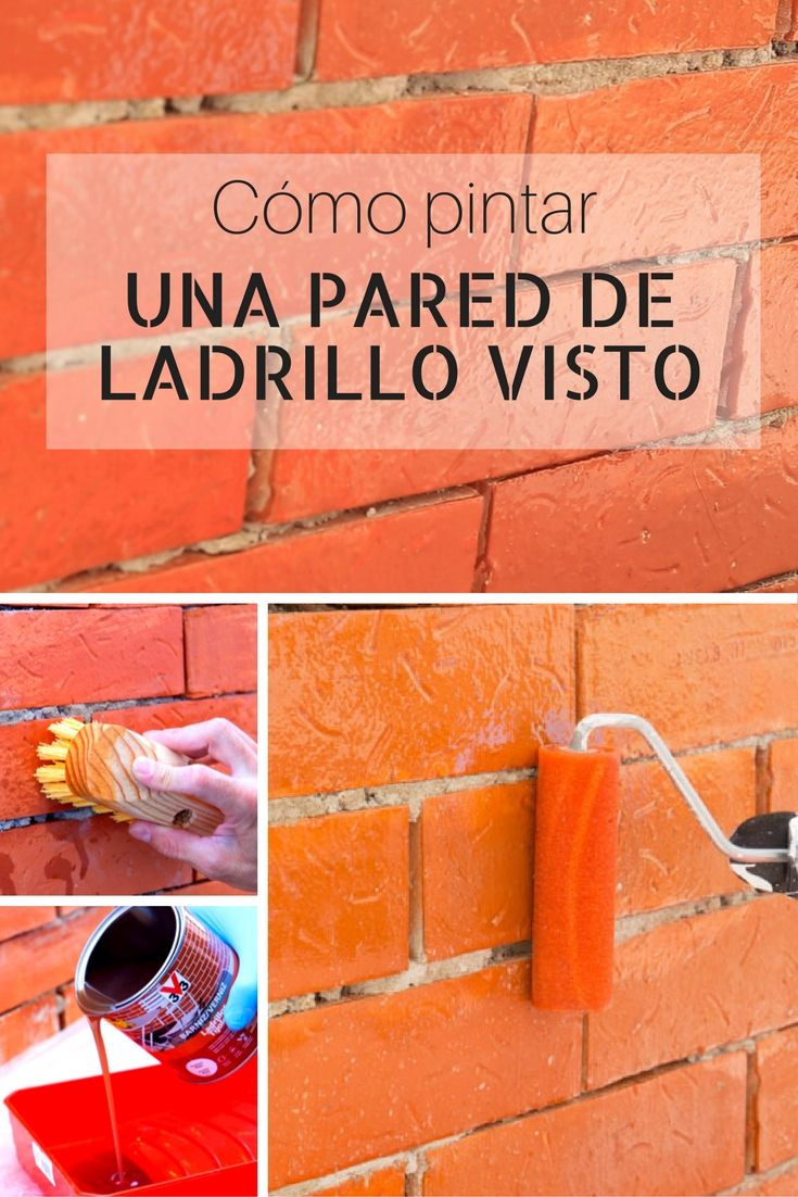 C mo pintar una pared de ladrillo visto house - Aprender a pintar paredes ...