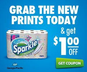 New Paper Towel Coupon Sparkle Sparkle Paper Towels