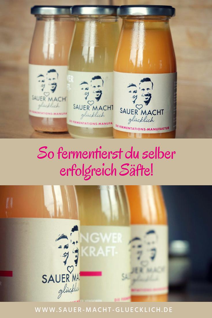 In diesem Gastartikel von Ulrike Eder von Deine Ernährungerfährst du, wie du selber erfolgreich Säfte fermentierst und ob Fermentieren ohne Salz überhaupt funktioniert. #kombuchaselbermachen