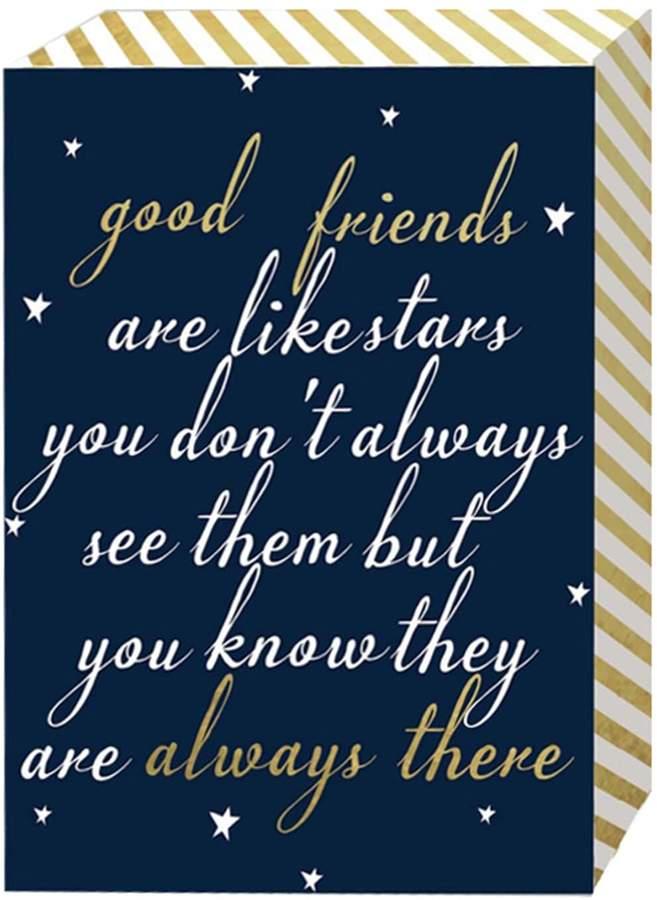 Belle Maison Good Friends Are Like Stars Box Sign Art Good