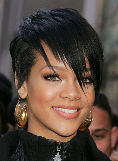 Hairstyles For Diamond Faces In 2019 Pixie Fairies Short Black
