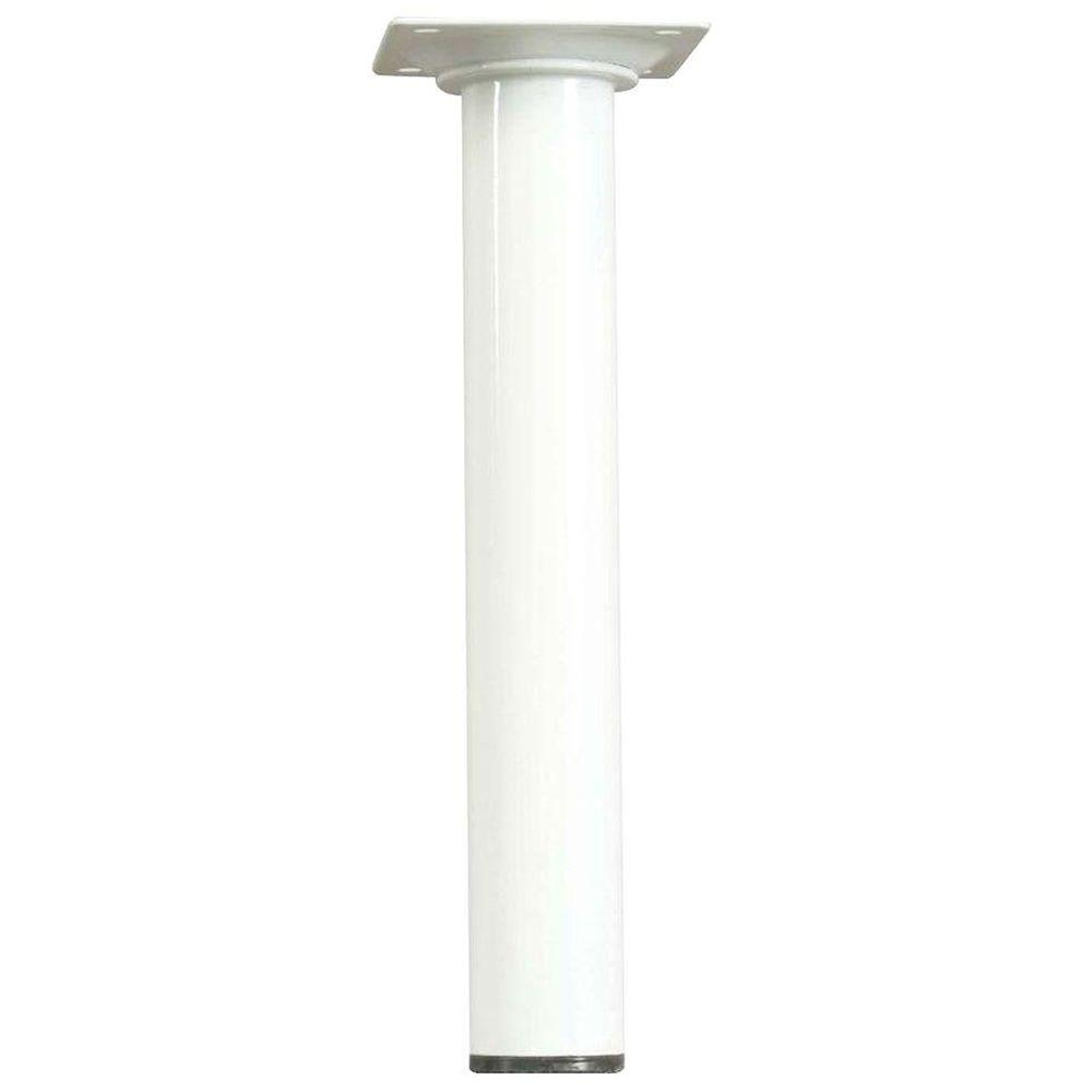 Waddell 8 In X 1 1 8 In White Round Metal Table Leg Products Metal Table Legs Table Legs Table Furniture