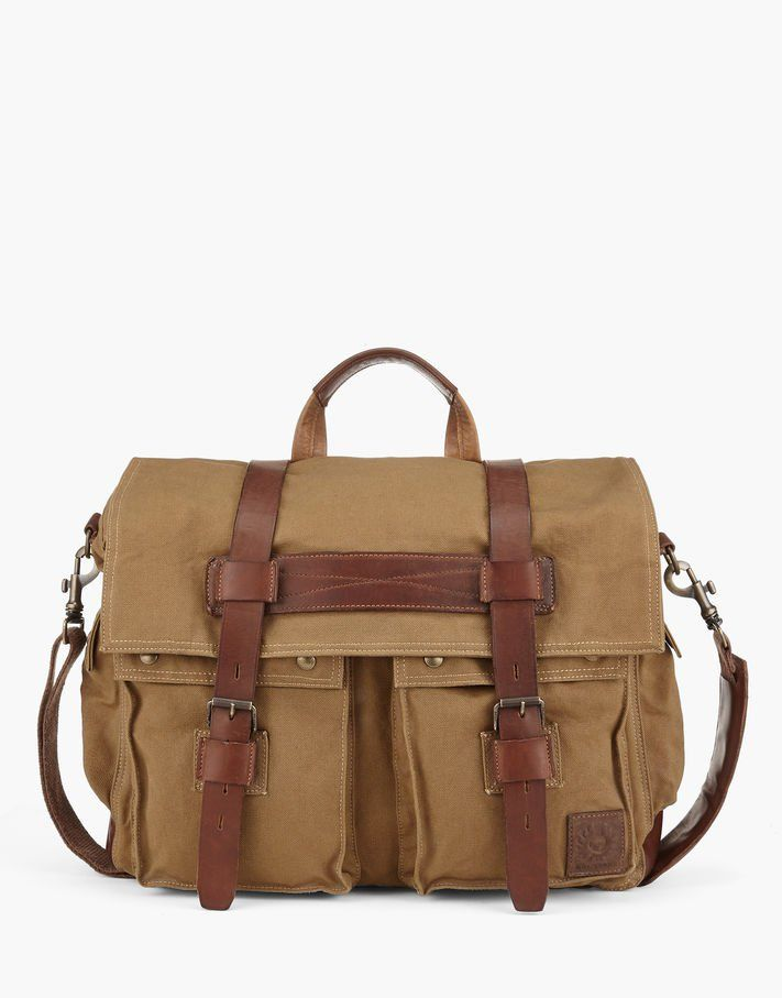 Colonial Messenger Shoulder Bag. A robust cotton canvas shoulder bag with  ample storage space and 543274efafe