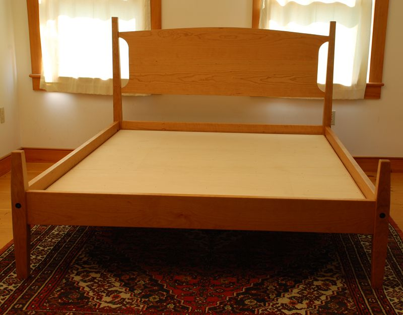 A Custom Shaker Style Platform Bed In Solid Walnut Or Cherry Handmade Vermont By Paul Donio At Hawk Ridge Furniture