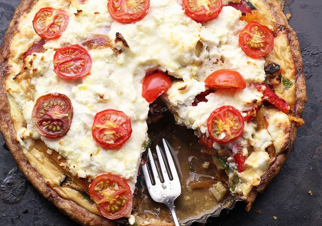 AMAZING!!! A Very Full Tart - a Mediterranean-infused tart that is literally overflowing with roasted vegetables. via eats well with others
