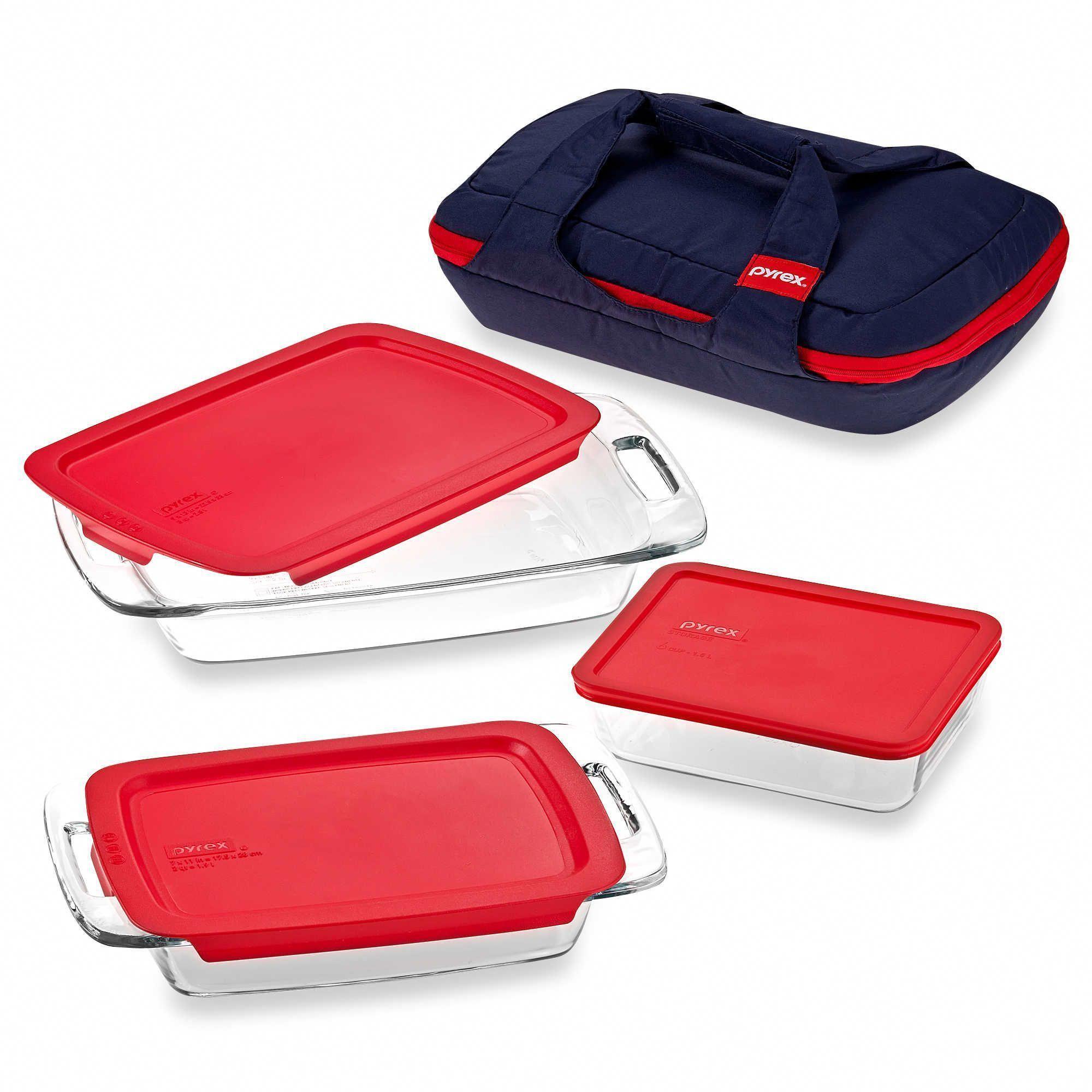 Pyrex Portables  Piece Bakeware Set Bakewareorganization