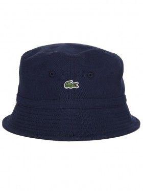 Lacoste Navy Blue Logo Bucket Hat  ebccbc2eb26