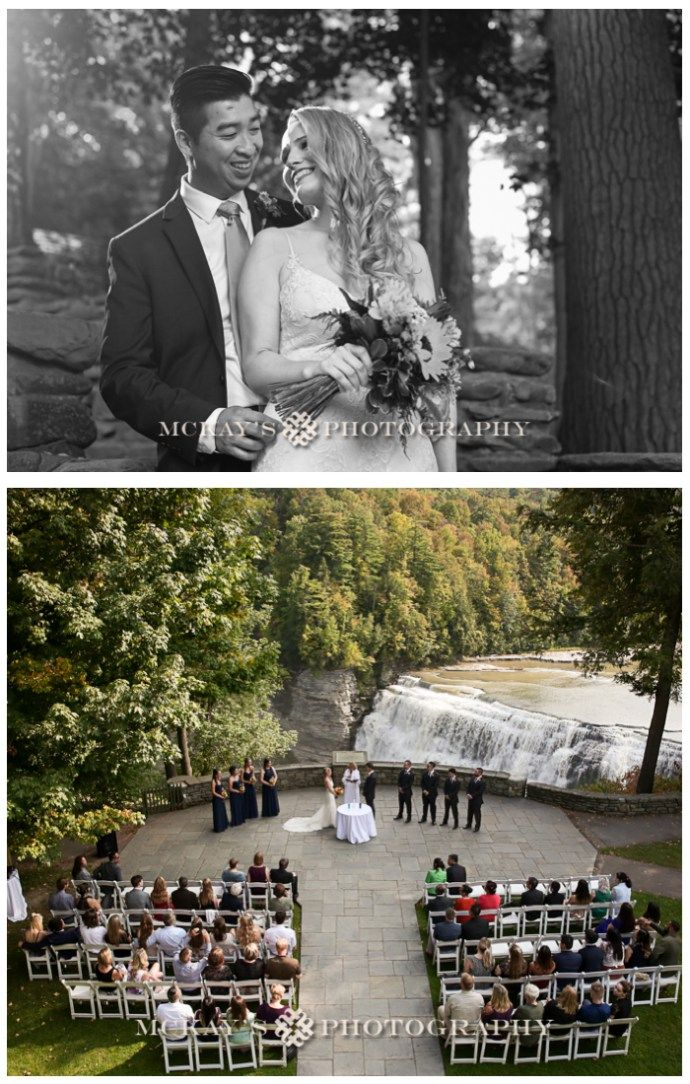 Fall outdoor wedding venue in Letchworth State Park at the Glen Iris Inn #letchworthstatepark