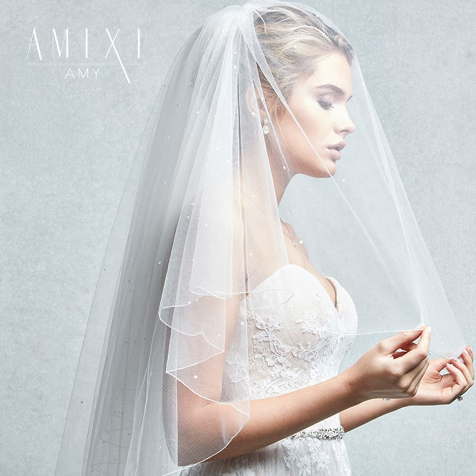 We Love This Simple Two Tier Wedding Veil Amy By Amixi With Delicate Diamante